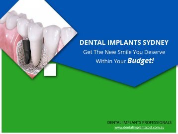 Affordable and High Quality Dental Implants in Sydney & Melbourne