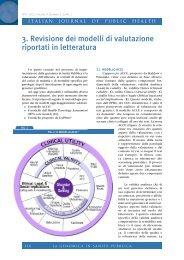 3. Revisione dei modelli di valutazione riportati in letteratura - Ijph.it