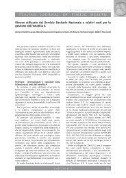 ITALIAN JOURNAL OF PUBLIC HEALTH Risorse utilizzate ... - Ijph.it