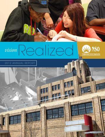 2012 AnnuAl RepoRt - Neighborhood Service Organization