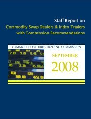 CFTC Staff Report on Commodity Swap Dealers and Index Traders ...