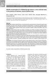 Rubella seroprevalence in childbearing age women - Italian Journal ...
