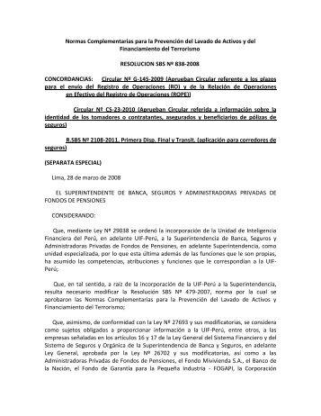 Normas Complementarias para la Prevención del ... - La Fiduciaria