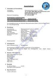 Ausschreibung (PDF, 185kB) - Motorbootrennsport