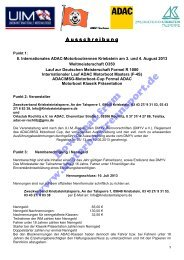 Ausschreibung, Nennung, Kurs (PDF, 309kB) - Motorbootrennsport