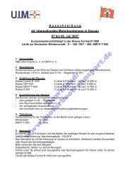 Ausschreibung (PDF, 282kB) - Motorbootrennsport