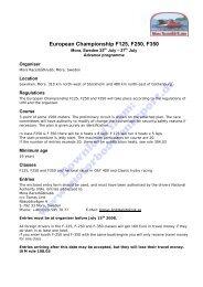 Advance Program, Schedule, Entry Form (PDF, 198kB)