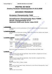 Advance Program, Schedule, Entry Form (PDF, 326kB)
