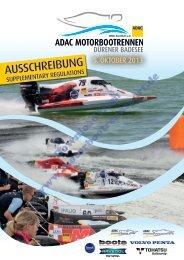 Ausschreibung, Nennung (PDF, 3.5MB) - Motorbootrennsport
