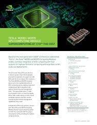 TESLA™ M2050 / M2070 GPU CoMPUTinG ModULE - NVIDIA
