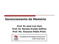 Gerenciamento de Memória. - Rossano.pro.br