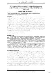 quantificação e qualificação dos resíduos sólidos ... - Global Garbage