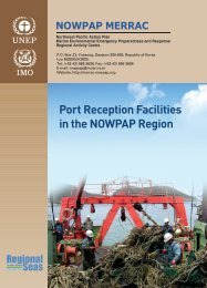 Port reception facilities in NOWPAP region - 13 ... - nowpap dinrac
