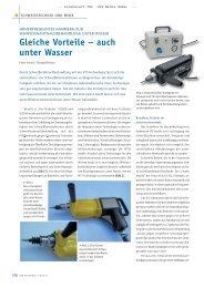 Gleiche Vorteile – auch unter Wasser - Gerster-gec.com