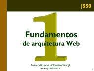 Fundamentos de arquitetura Web - Treinamento em tecnologias ...