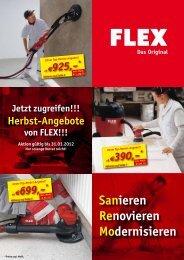 Herbst-Angebote von FLEX!!!