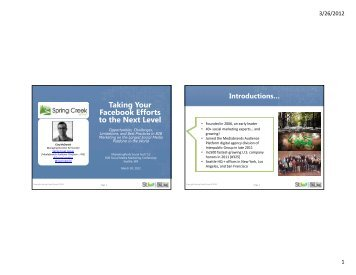 Taking Your Facebook Efforts to the Next Level - MarketingProfs