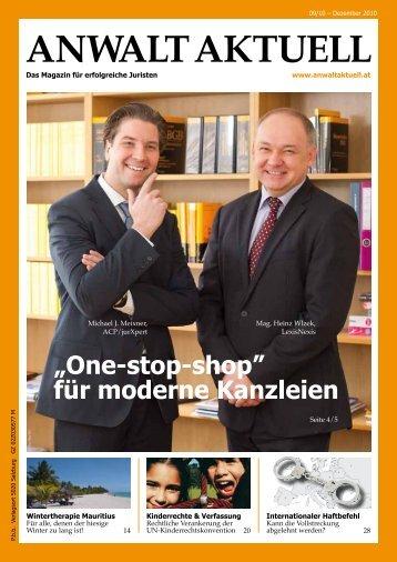 Anwalt Aktuell Dezember 2010 - jurXpert