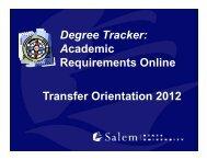 Degree Tracker - Salem State University