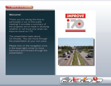 Sept '08 On-Line Meeting - Improve I70
