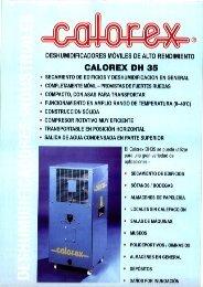 deshumidificadores móviles de alto rendimiento calorex dh 35