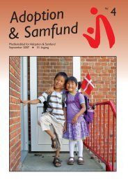 Sept. 2007 - Adoption og Samfund