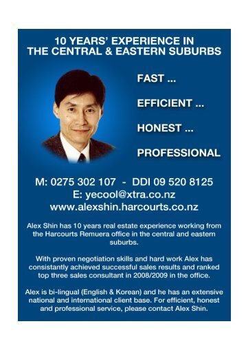 SOLD BY ALEX SHIN - Harcourts