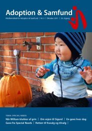 TEMA: SPECIAL NEEDS BøRN - Adoption og Samfund