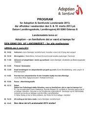 Se hele programmet for LANDSMØDET 2013 her! - Adoption og ...