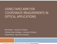 using faro arm for coordinate measurements in optical ... - CMSC