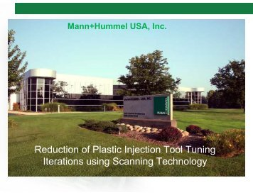Reduction of Plastic Injection Tool Tuning Iterations using ... - CMSC