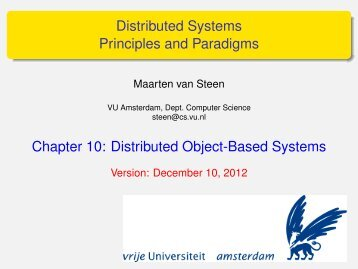 Distributed Systems Principles and Paradigms - Maarten van Steen