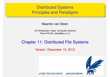 Distributed File Systems - Maarten van Steen