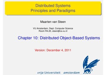 Distributed Object-Based Systems - Maarten van Steen