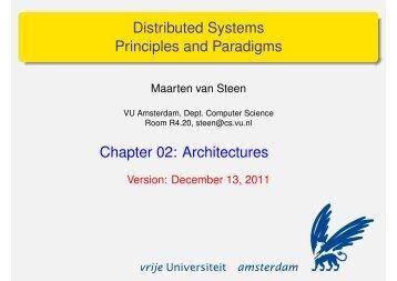 Architectures - Maarten van Steen