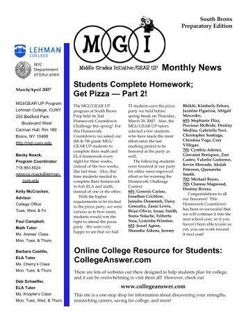 newsletter 3 SBP.pub - Lehman College - CUNY