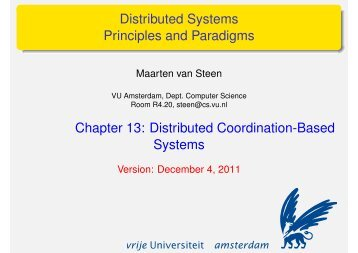 Distributed Coordination-Based Systems - Maarten van Steen