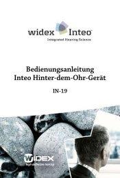 Bedienungsanleitung Inteo Hinter-dem-Ohr-Gerät - Widex