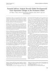 Neonatal Salivary Analysis Reveals Global ... - David Rocke