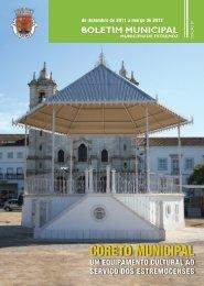 BOLETIM MUNICIPAL - Câmara Municipal de Estremoz