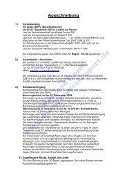 Ausschreibung (PDF, 88kB) - Motorbootrennsport