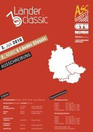 AUSSCHREIBUNG 3. Juli 2010 2. ADAC 3 Länder Classic