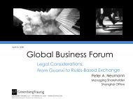 Legal Considerations: From Guanxi to Rules-Based Exchange ...