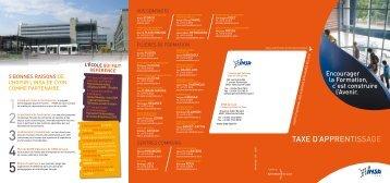 Taxe D'aPPrenTIssage - Département Génie Industriel - INSA de Lyon