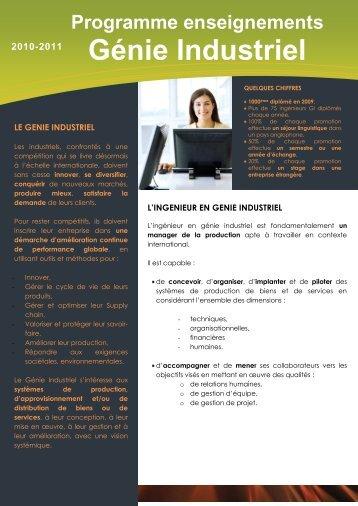 Programme - Département Génie Industriel - INSA de Lyon