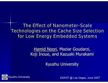 The Effect of Nanometer-Scale Technologies on the Cache Size ...