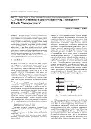 A Dynamic Continuous Signature Monitoring Technique for Reliable ...
