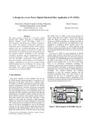 A Design for a Low-Power Digital Matched Filter ... - System LSI Lab.