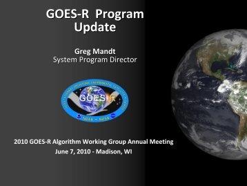 Current Status - GOES-R