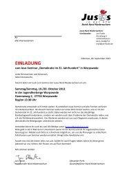 Einladung Seminar Demokratie 21. Jahrhundert - Jusos ...